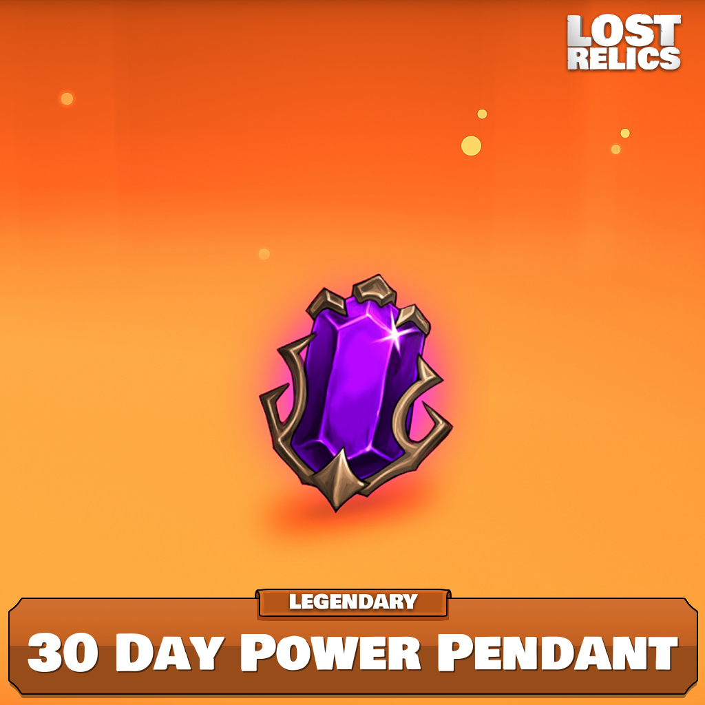 30 Day Power Pendant