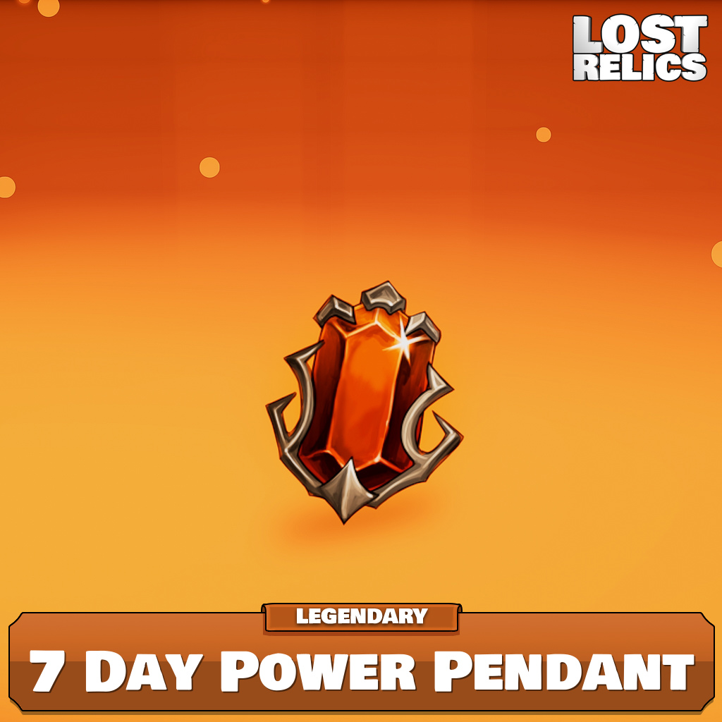 7 Day Power Pendant