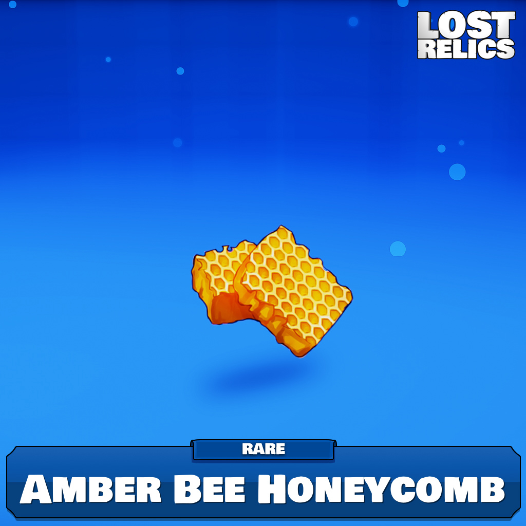 Amber Bee Honeycomb Image