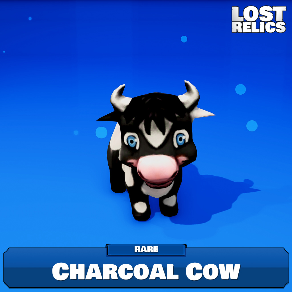 Charcoal Cow Image