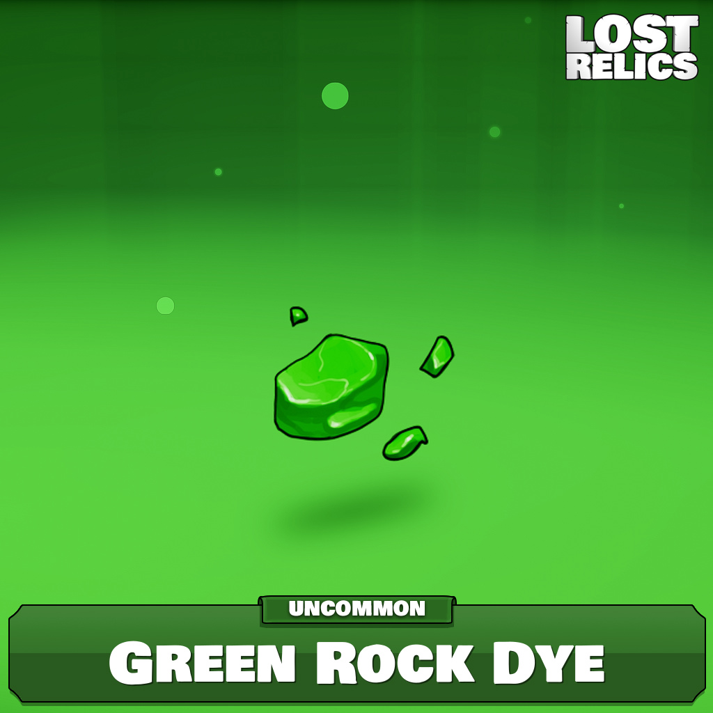 Green Rock Dye Image