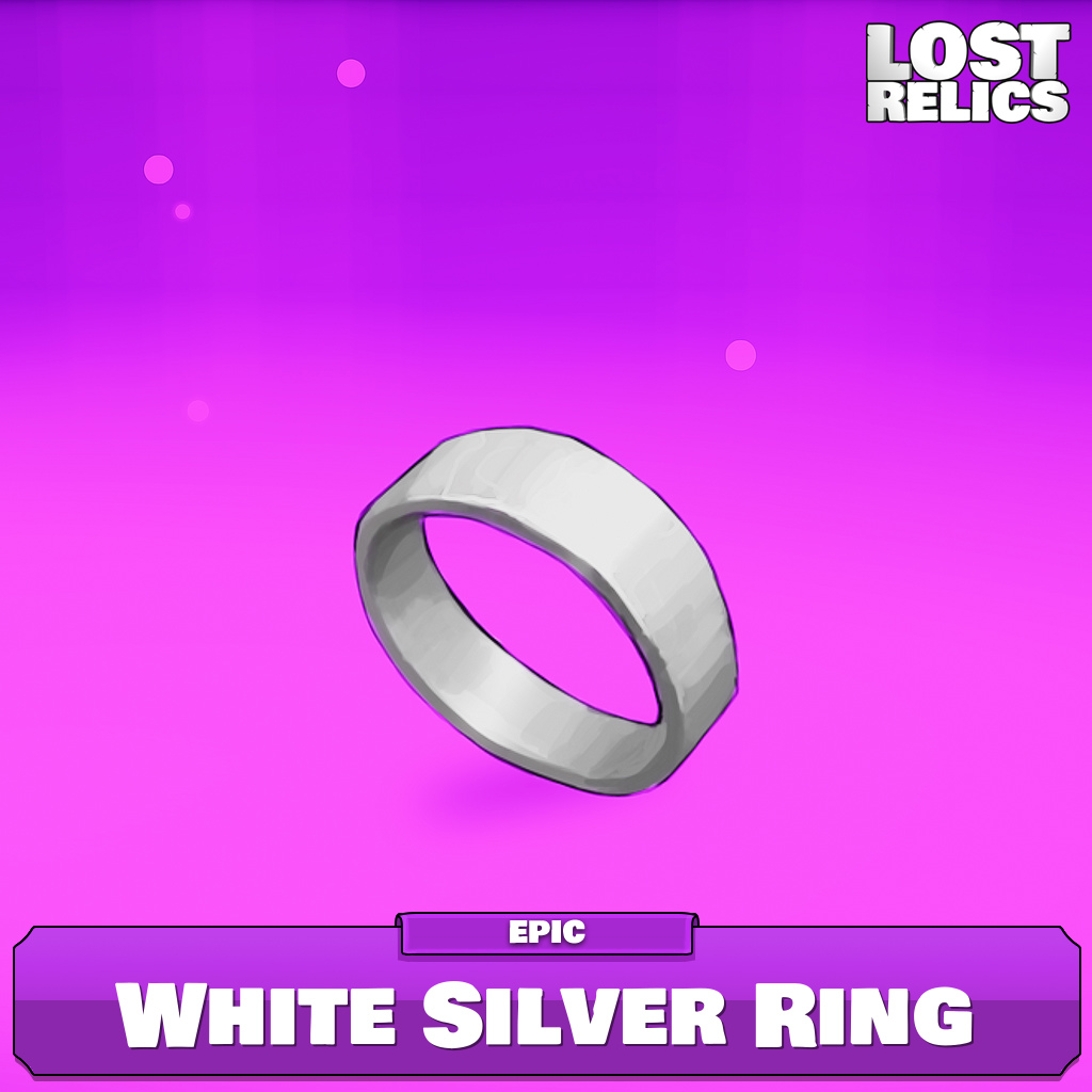 White Silver Ring Image